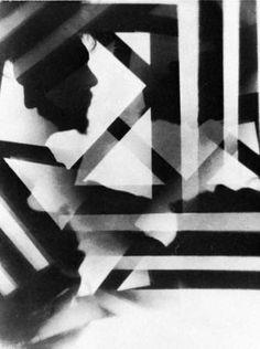 Vortograph portrait of Ezra Pound by Alvin Lngdon Coburn