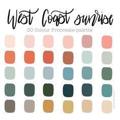 Color Schemes Colour Palettes, Colour Pallette, Color Palate, Color Combos, Vintage Colour Palette, Spring Color Palette, Sunrise Colors, Digital Painting Tutorials, Aesthetic Colors