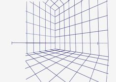 Point perspective for Room design template grid