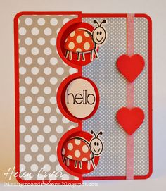 The Dining Room Drawers: Sizzix Framlits & Stamps Bugs Flip-its Cards