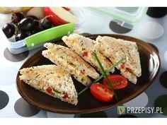 Kanapka z pastą jajeczną z papryką i szczypiorkiem Zucchini, Vegetables, Breakfast, Food, Breakfast Cafe, Veggies, Essen, Vegetable Recipes, Yemek