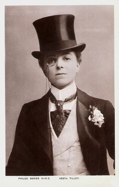 Vesta Tilley, male impersonator in the late Victorian and Edwardian periods, through WWI. Photos Du, Old Photos, Dandy, Vintage Photographs, Vintage Photos, Drag King, 20th Century Fashion, Victorian Steampunk, Edwardian Fashion
