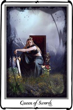 Tarot - Queen of Swords by `azurylipfe on deviantART