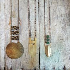 Playing with some cut brass #demimondejewelry #necklaces