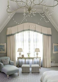 Classical bedroom curtain - curved
