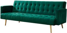 Home Detail Velvet Three Seater Sofa Bed in Grey Pink Blue or Green with Contrast Golden or Rose Gold Finish Legs (Green with Golden Legs): Amazon.co.uk: Kitchen & Home Velvet Sofa Bed, Bed Positions, Tree Furniture, Three Seater Sofa, Or Rose, Rose Gold, Fabric Sofa, Blue Velvet, Green And Grey