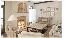 Doors above Fire place - Hidden TV Rachel Halvorson Design