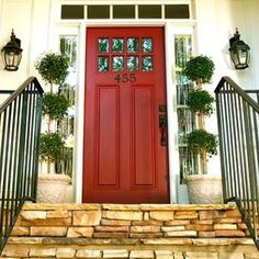 Front Doorway ideas for first impressions.  Keep it simple.