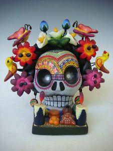 Mexican Day of Dead Frida skull altar by CASTILLO on eBay
