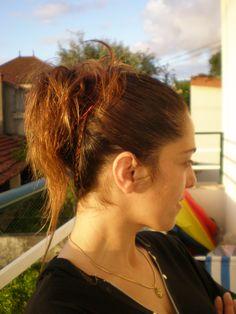 Um penteado simples e bonito...