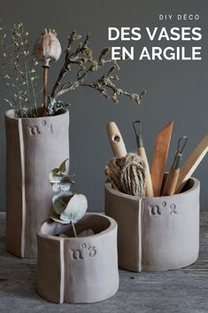 Create a collection of storage vases and pots, numbered as a limited series. Informations About Poterie : fabriquer des vases en argile Pin You can easily … Hand Built Pottery, Slab Pottery, Pottery Vase, Ceramic Pottery, Clay Vase, Clay Pots, Pottery Painting, Ceramic Painting, Diy Clay