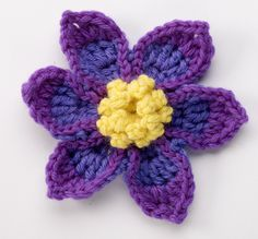 Pasque Flower - free pattern from Suzann Thompson's Crochet Garden.