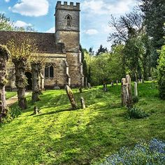 'Shipton on Cherwell Church' by IanWL Framed Prints, Canvas Prints, Art Prints, England Uk, Notre Dame, Art Boards, Mansions, House Styles, Travel