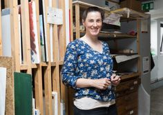 UK News: Helen Bradbrook, one of the managers at Studio Upstairs: a studio space for artists with mental health issues.