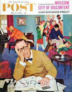 Saturday Evening Post - 1960-05-14: No Quiet for Daddyo (Richard Sargent)
