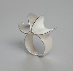 Ring | Els Vansteelandt. Sterling silver ...pinned by ♥ wootandhammy.com, thoughtful jewelry.