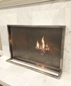 10 Gorgeous Fireplace Screens for Every Home Fireplace screens