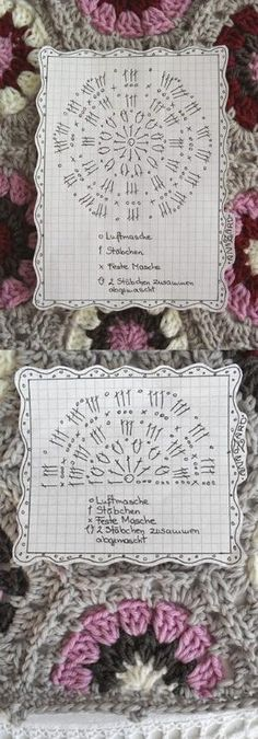 Crochet Hexagon - Chart ❥ 4U // hf by Meloka arte design