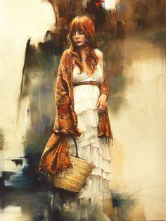 Pandora. Art by *alifann on deviantART. Oil on Canvas