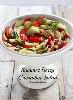 Strawberry Cucumber Salad - Mother's Day Brunch