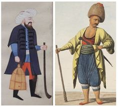 Janissary Night Watchman.  Paid by each block - whistles to the next watchman would be sounded to let them know that all was well.