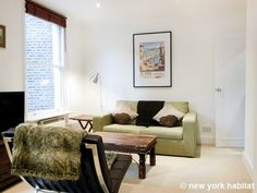 Elegant living space in this 1 bedroom #rental in London http://www.nyhabitat.com/london-apartment/furnished/1449