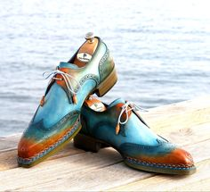 Men's Shoes, Shoe Boots, Gentleman Shoes, Wingtip Shoes, Best Shoes For Men, Painting Leather, Derby Shoes, Luxury Shoes, Cowhide Leather