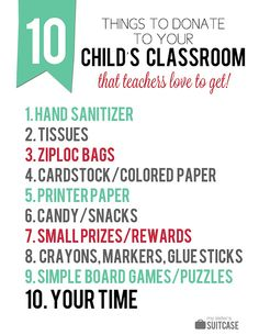 Give your child's teacher some supplies for the classroom this year - 10 ideas from a former teacher!