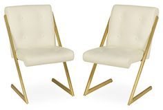 Milo Baughman-Style Z-Form Chairs on OneKingsLane.com