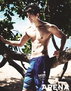 Lee Ki Woo Also Gets In Some Surfin In Bali For ARENA HOMME PLUS : Couch Kimchi