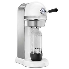 Kitchenaid Sparkling Beverage Maker Powered By Sodastream In White Best Soda, Soda Machines, Carbonated Drinks, Specialty Appliances, Small Kitchen Appliances, Kitchen Small, Kitchen Ideas, Kitchen Design, Drip Coffee Maker