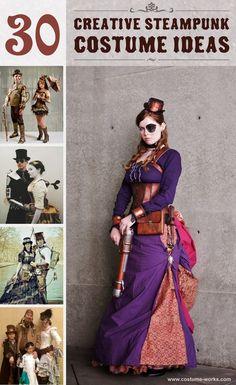 Steampunk Costume Ideas - 30 Creative DIY Steampunk Costumes Costume Steampunk, Steampunk Diy, Style Steampunk, Steampunk Wedding, Steampunk Design, Victorian Steampunk, Neo Victorian, Steampunk Clothing, Steampunk Fashion Women