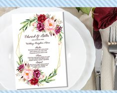 Excited to share this item from my #etsy shop: Printable Wedding Menu Template/Card, Table Card/Place Card - Custom DIY made to order - Digital PDF Download Menu Cards, Table Cards, Templates Printable Free, Printables, Heirloom Tomato Tart, Mini Pavlova, Dessert Places, Wedding Menu Template, Menu Design