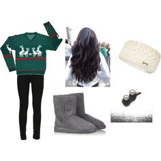 Basically my outfit to Christmas Movie Night!!!