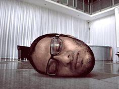 Head on the floor, self portrait.