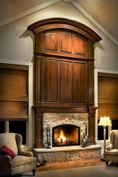 Traditional Home Wood Fireplace Surround Design, Pictures, Remodel, Decor and Ideas - page 8