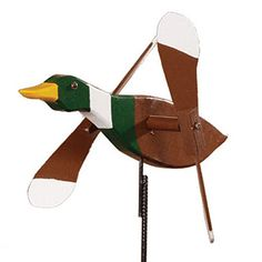 Mallard Duck Whirly Bird / Whirligig Wind Spinner