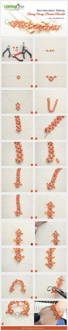 sandylandya@outlook.es New Idea about Making Thorny Orange Beaded Bracelet