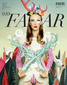 """Name: FAAR Magazine, June — December 2012 • Year: 2012 • Designer: BECHA • Description: """"'The inspiration and the clothes featured are coming straight from the Silent Spring lookbook but [..] added a '10' in roman numbers to represent the 10th issue'."""" — """"BECHA x FAAR Magazine"""", Machas (Retrieved: 12 September, 2012)"""