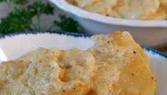 Cheesy Garlic Scalloped Potatoes - Great Grub, Delicious Treats Scalloped Potatoes And Ham, Scalloped Potato Recipes, Easy Potato Recipes, Cheesy Recipes, Scallop Recipes, Pumpkin Recipes, Chicken Recipes, Cheesy Potato Casserole, Cheesy Potatoes