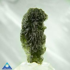 Drop Shaped Raw Moldavite Stone 12.21g by ArkadianCollection