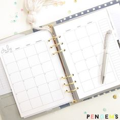2016 Free A5 Printable Planner Inserts from PenGems. Just everything you need for your planner!