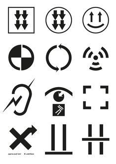 sada piktogramů (Papírna Plzeň 2016) design > Lukáš Beran (symbols set)