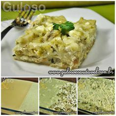 Bora fazer uma Lasanha de Bacalhau ao Molho Verde para o #jantar? É deliciosa e fácil, eu faço muitas vezes!  #Receita aqui: http://www.gulosoesaudavel.com.br/2013/02/19/lasanha-bacalhau-molho-verde/