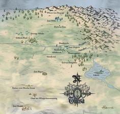 Demon Cycle :: Peter V. Brett :: Thesa map kotu151