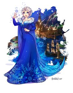 Frozen. Elsa. new dress by KritShel.deviantart.com on @DeviantArt