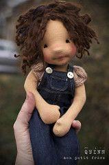 Quinn-natural fiber art doll by Mon Petit Frère   by MonPetitFrere
