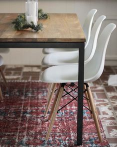 West Elm box frame table | modern dining room