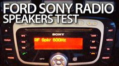 How to #test speakers audio channels in #Ford #Sony #radio #Mondeo MK4 MP3 6CD DAB #cars #diagnostics