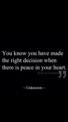 Is there peace in your heart?